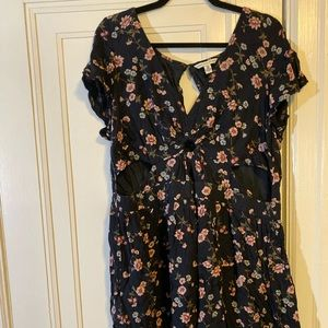 AEO Floral Cut Out Summer Dress